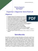 Como Importar y Exportar Datos Con MatLab