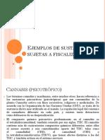 Ejemplos de Sustancias Sujetas a Fiscalizaciòn