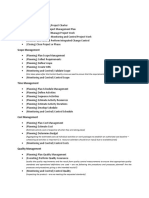 Summary Knowledge Areas - Processes
