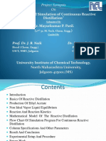 2013 Modelling and Simulation of Continuous Reactive Distillation Ppt