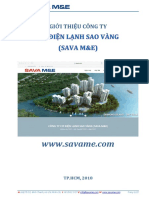 Giới thiệu về công ty Cơ Điện Lạnh Sao Vàng (SAVA M&E) - 2018
