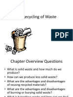 Recycling of Waste