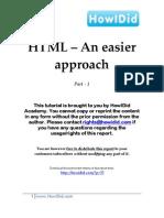 HTML An Easier Approach (Part 1)