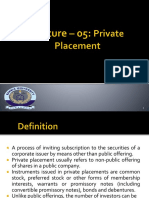 Lec 13 Private Placement & LBO