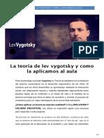 LA TEORÍA DE 'LEV VYGOTSKY' Y CÓMO LA APLICAMOS EN UNA CLASE.pdf