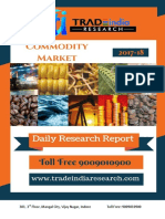 Daily Commodity Research Report 11-01-2018 by TradeIndia Research