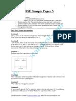 CBSE Sample Paper -5
