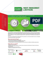 Save the Planet 2018 - Waste Management & Recycling Exhibition and Conference Brochure