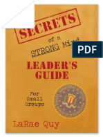 Secrets of a Strong Mind Leaders Guide