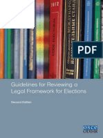 OSCE Guide for Reviewing Electoral Legal Framework