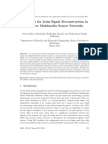 A Scheme for Joint Signal Reconstruction in Wireless Multimedia Sensor Networks
