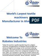 Rabatex Textile Machinery Manufacturers, Sectional warping machine, Beam storage, cone creel, Beam trollys, Reed cleaning machine, Automatic Tensioning creel Device, motorized beam trolley, poly beamer, Mono Filament Creel, Carbon Creel, Warp Beam Carrier, Cloth Roll Carrier, Beam Pallet Trolley