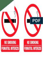 Afis fumatul interzis A5