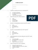 Examen Uso de Epp