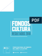 Resultados Fondart Libros 2018