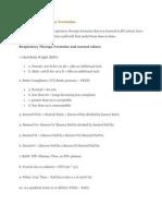 Respiratory Therapy Formulas