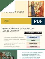 LA LÍRICA MEDIEVAL POPULAR Y CULTA