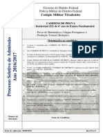 PROVA - Processo Seletivo 2016-2017