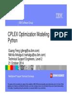 CPLEX Optimization Modelling Using Python