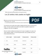 25 Verbos Mas Usados en Inglés - Verbos en Inglés Mas Utilizados _ Open English