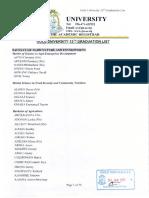 Gulu University 13th Graduation List - Saturday 13th January 2018