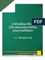 2017, Kuliah Ke 6, Contoh Aplikasi Software SLIDE [Compatibility Mode]