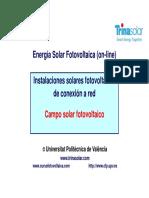 Instalaciones solares fotovoltaicas de conexión a red - Campo solar fotovoltaico