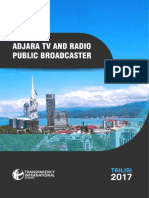 Assessment of Performance of Adjara TV and Radio of Public Broadcaster