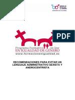 Recomendaciones Para Evitar Un Lenguaje Administrativo Sexista y Androcentrista_modulocompleto