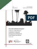 Towards Institutional Justice