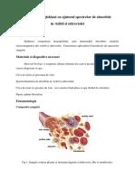 Studiul Hemoglobinei Cu Ajutorul Spectrelor de Absorbtie
