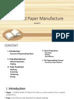 Pulpn Paper Manufacture
