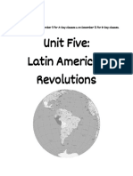 unit five   latin american revolutions