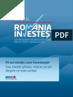 ERSTE ASSET MANAGEMENT - Ghid Romania Investeste Iunie 2016