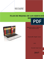 Plan de Mejora de La Biblioteca Institucional
