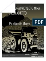 Clase 6 - Catedra Proyecto Rajo - Planificacion Minera