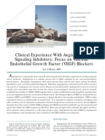 Clinical Experience With Angiogenesis Signaling Inhibitors Focus on Vascular Endothelial Growth Factor (VEGF) Blockers
