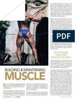 Building and Maintaining Muscle
