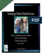 Emerging School Health Issues