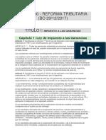 Ley 27.430 - Reforma Tributaria (Bo 29-12-2017)