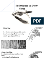 drawing techniques to show value