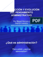 Teorias Pensamiento Administrativo
