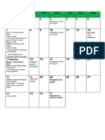 Calendario Janeiro