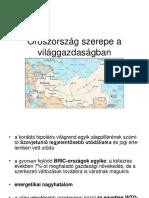 Oroszország Szerepe a Világgazdaságban