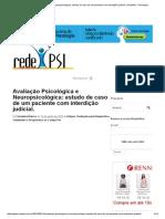 Avaliação Psicológica e Neuropsicológica_ Estudo de Caso de Um Paciente Com Interdição Judicial