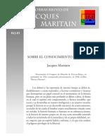 SOBRE EL CONOCIMIENTO HUMANO Jacques Maritain