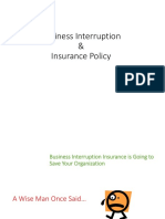 Lecture 3 Business Interruption and Insurance Policy