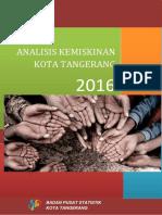 Analisis Kemiskinan Kota Tangerang 2016