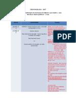 CRONOGRAMA - Disciplina de Psicologia da Educação