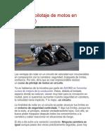 Cursos y Pilotaje de Motos en Circuito